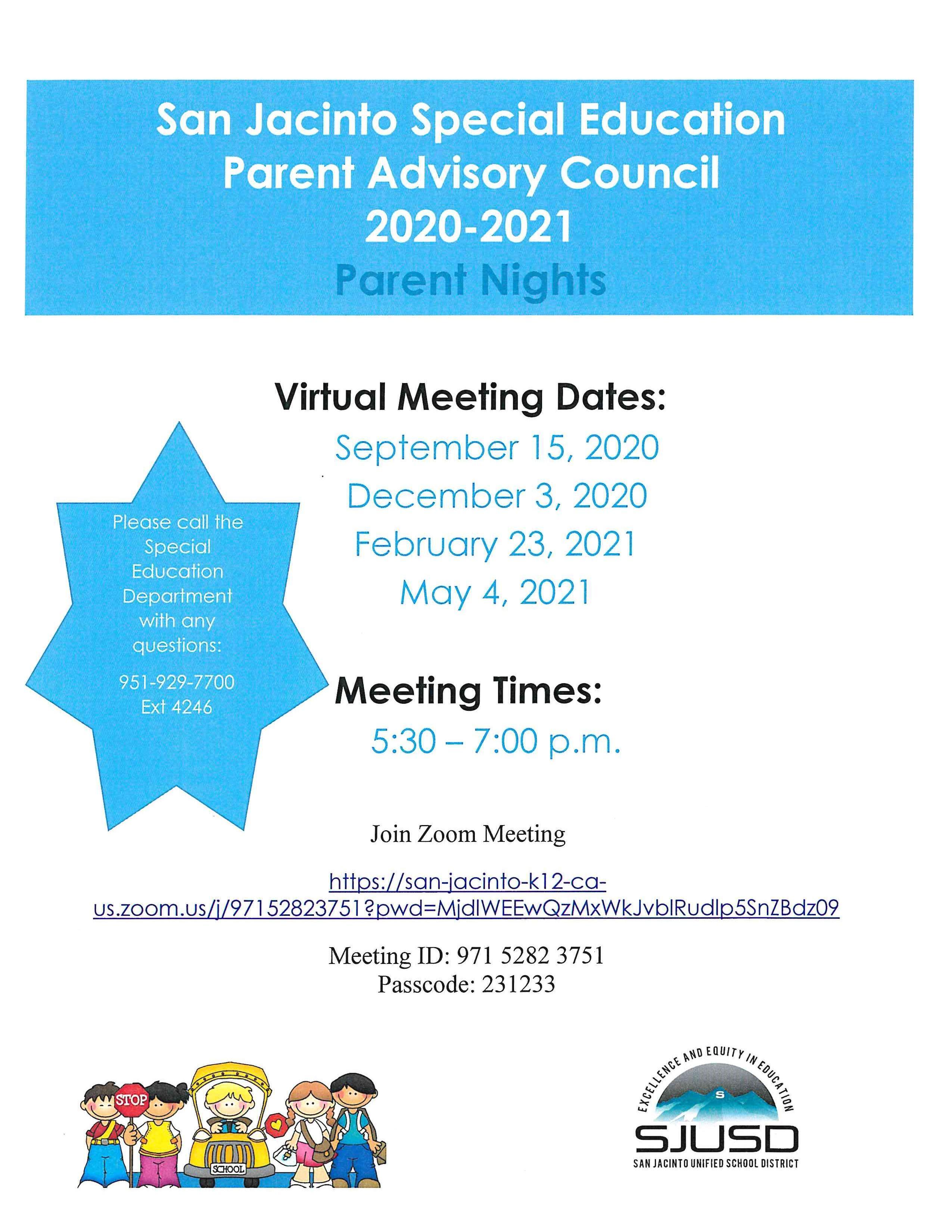 SPED Parent Nights 20-21
