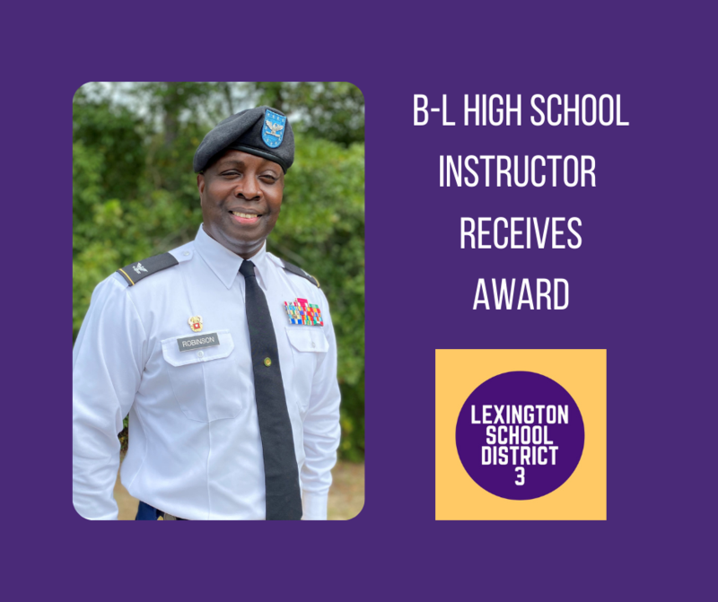 B-L High School Instructor Receives Award