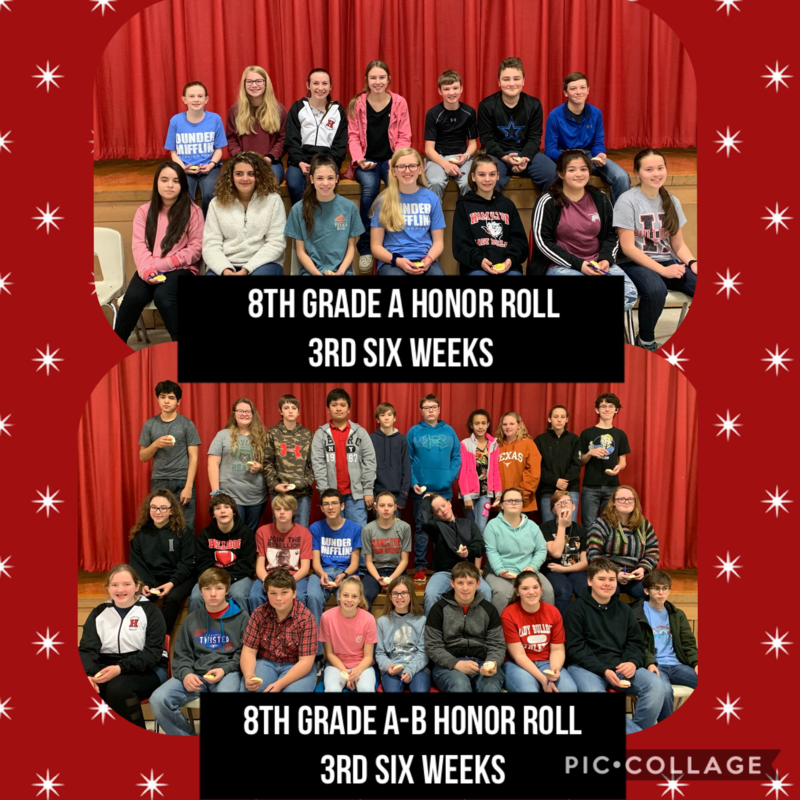8th Grade Honor Rolls 3rd Six Weeks Thumbnail Image