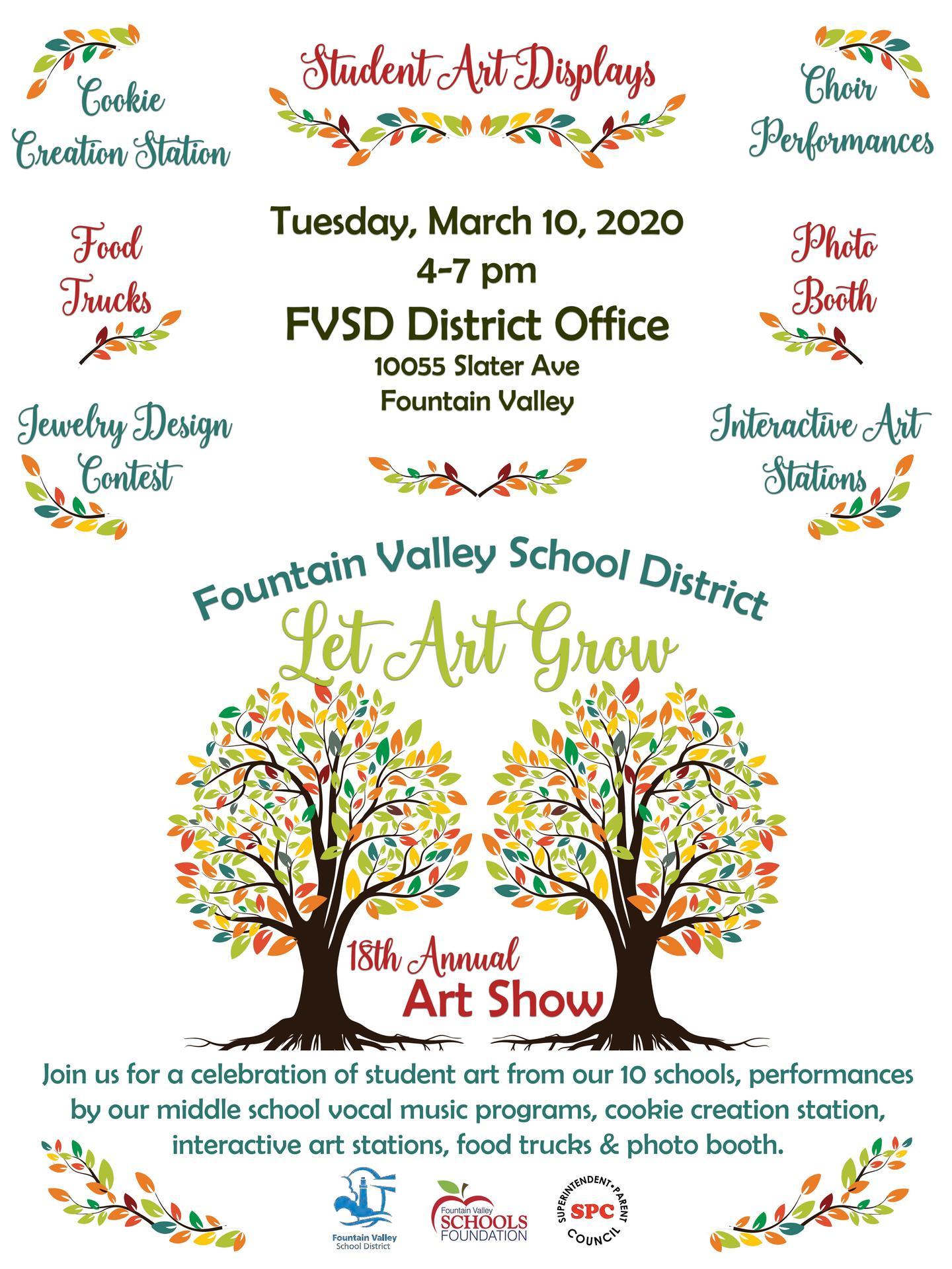 2020 District Art Show Flyer