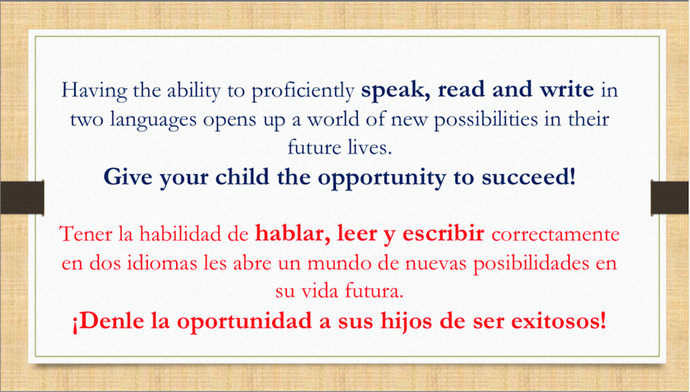 Dual language slide 18