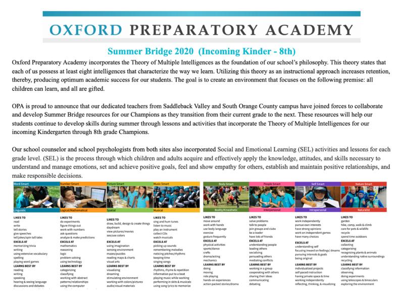 Summer Bridge Activities Featured Photo