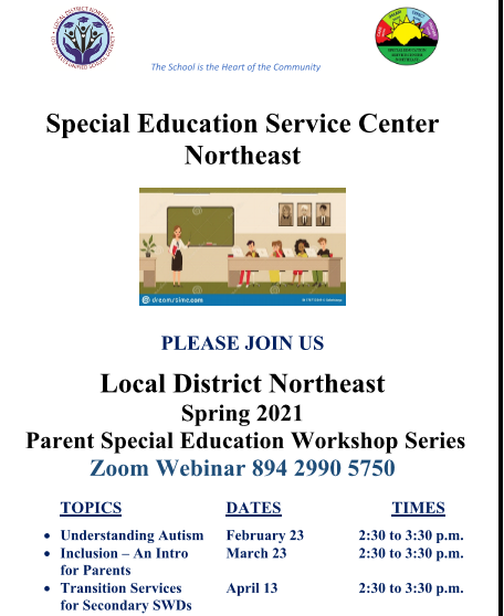 LDNE Special Education Parent Workshops Featured Photo