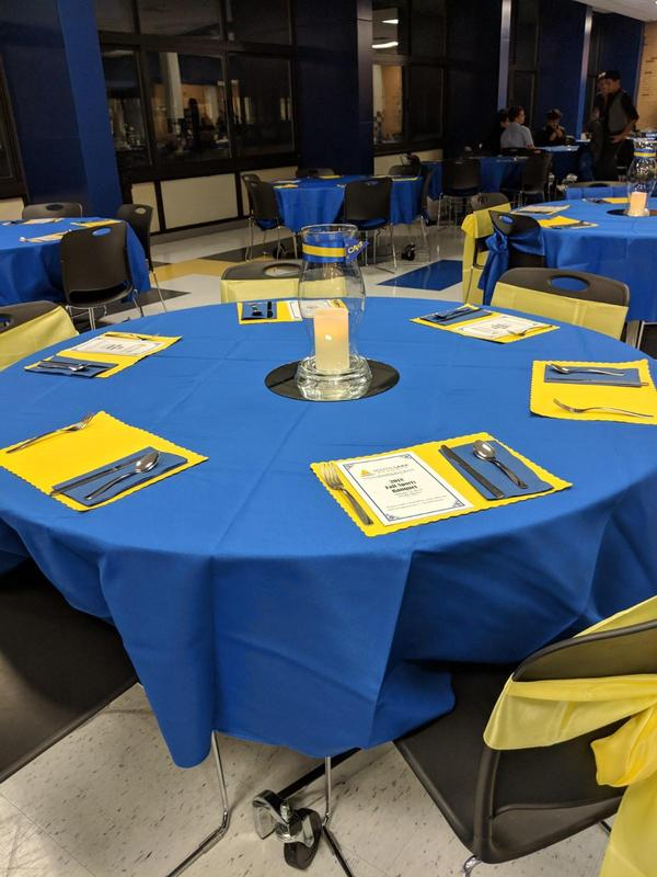 Tables completely decorated