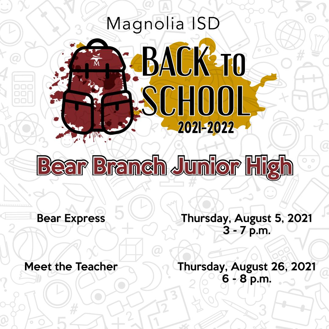 Bear Branch Junior High BTS Dates