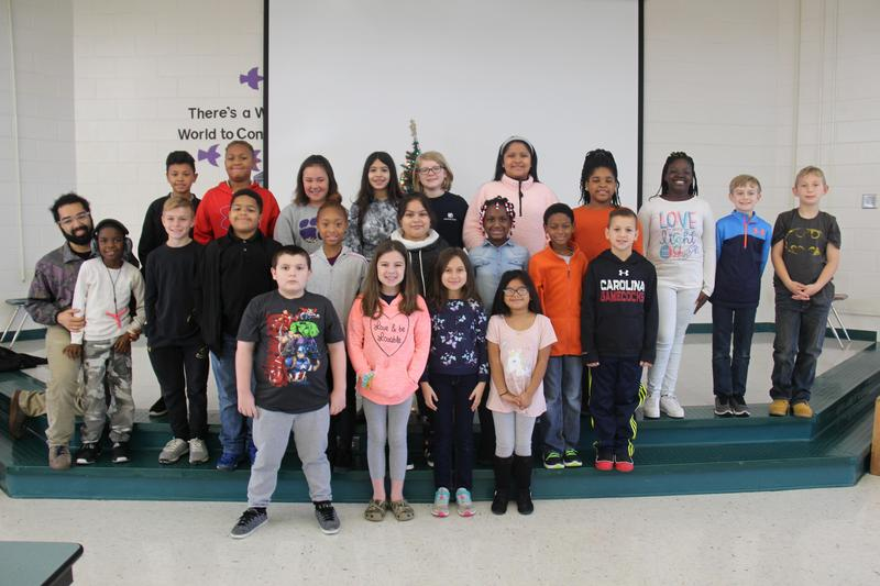 """Twenty-four students at B-L Elementary School were recently selected by the school's faculty members as displaying the character trait of """"Positivity."""""""