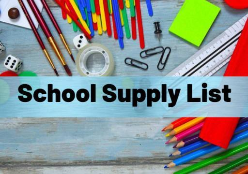 School Supply List for Fall 2021 Featured Photo