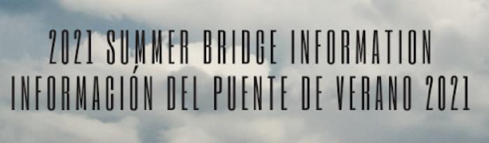 2021 Summer Bridge Program Featured Photo