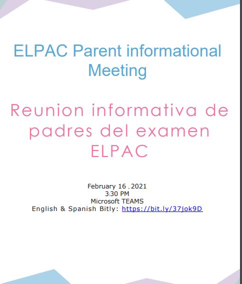 ELPAC Parent Informational