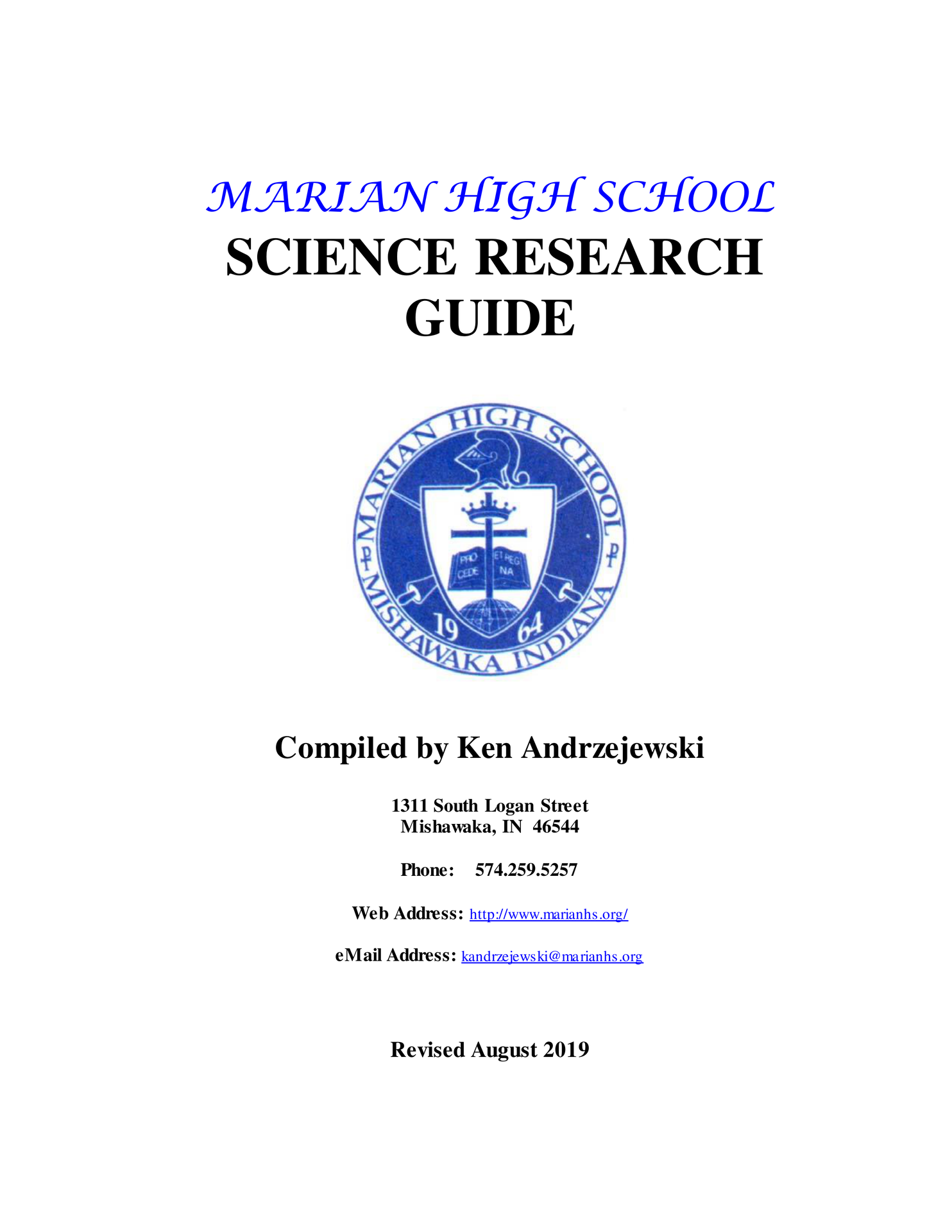 science research guide book
