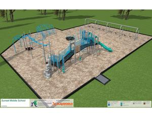 Sunset School Playground Rendering