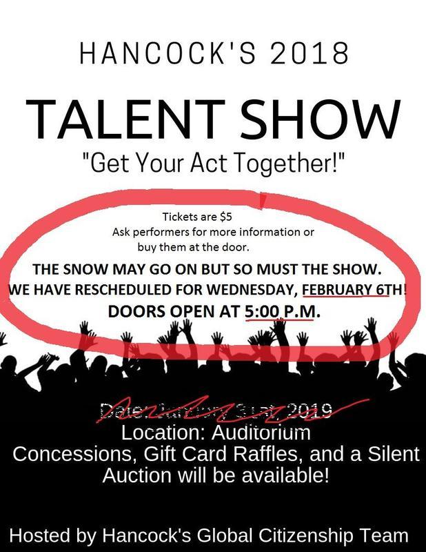 Talent Show Flier