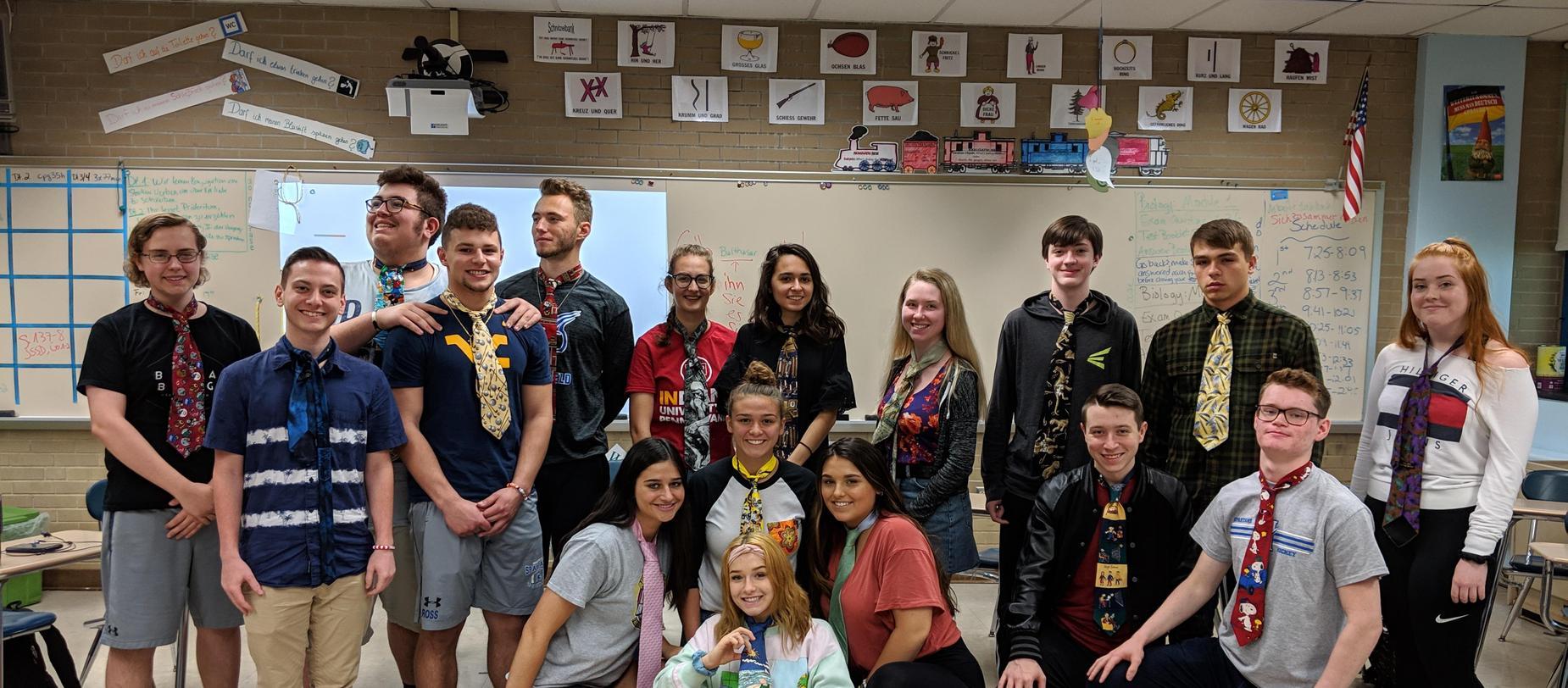 High School Students in German Class