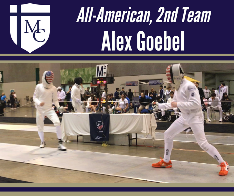 Alex Goebel Named All American in Fencing Thumbnail Image