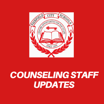 Graphic with the district logo that reads Counseling Staff Updates