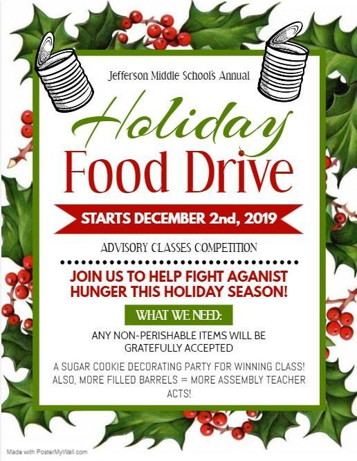 Holiday Canned Food Drive Happening Now! Thumbnail Image