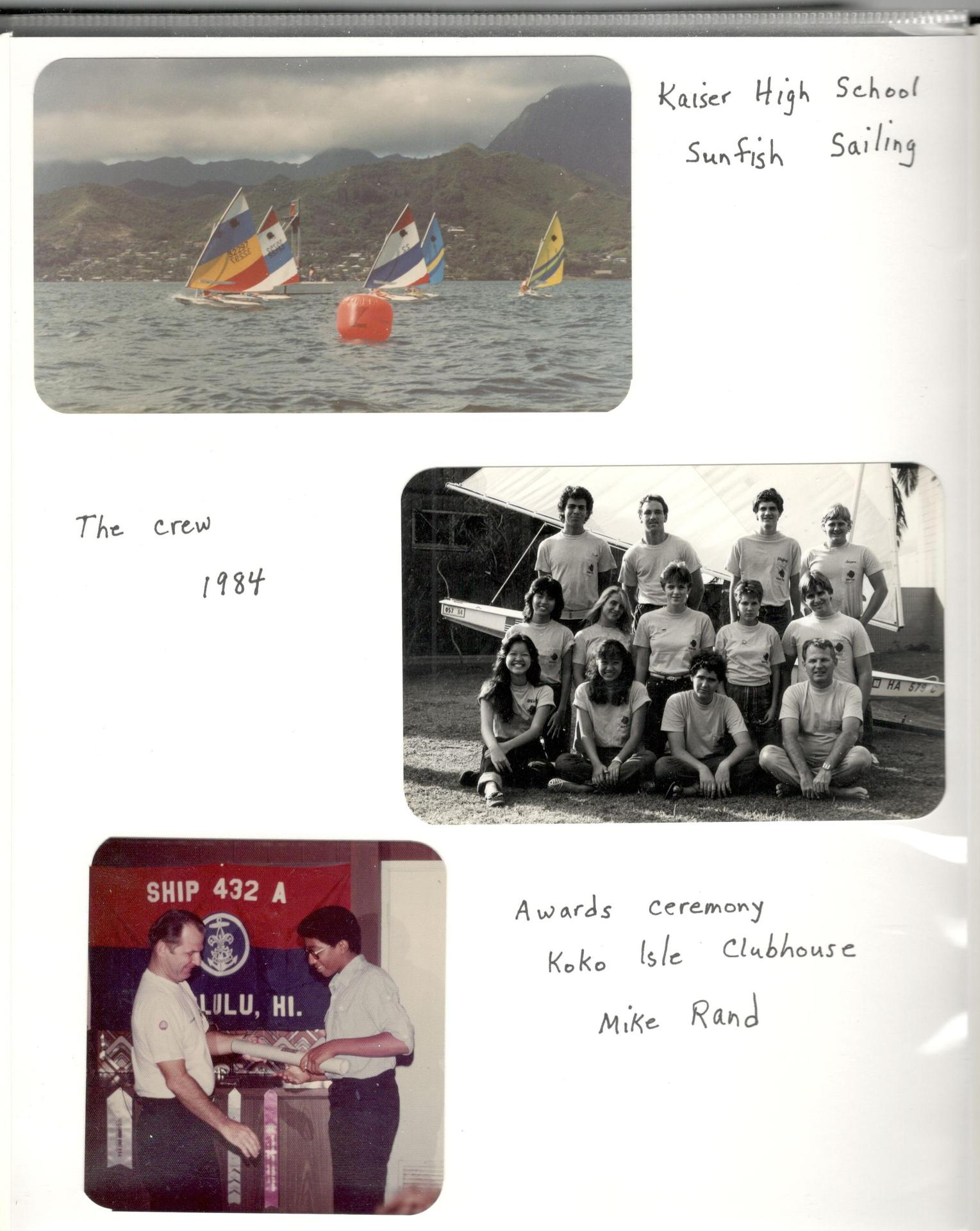 Kaiser Sail Team photos from 1984