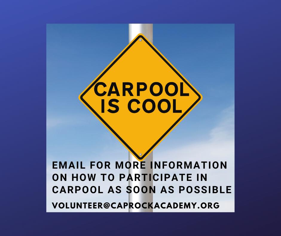 Contact volunteer@caprockacademy.org for Carpool Information
