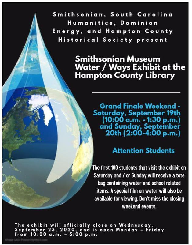Water / Ways Exhibit at the Hampton County Library