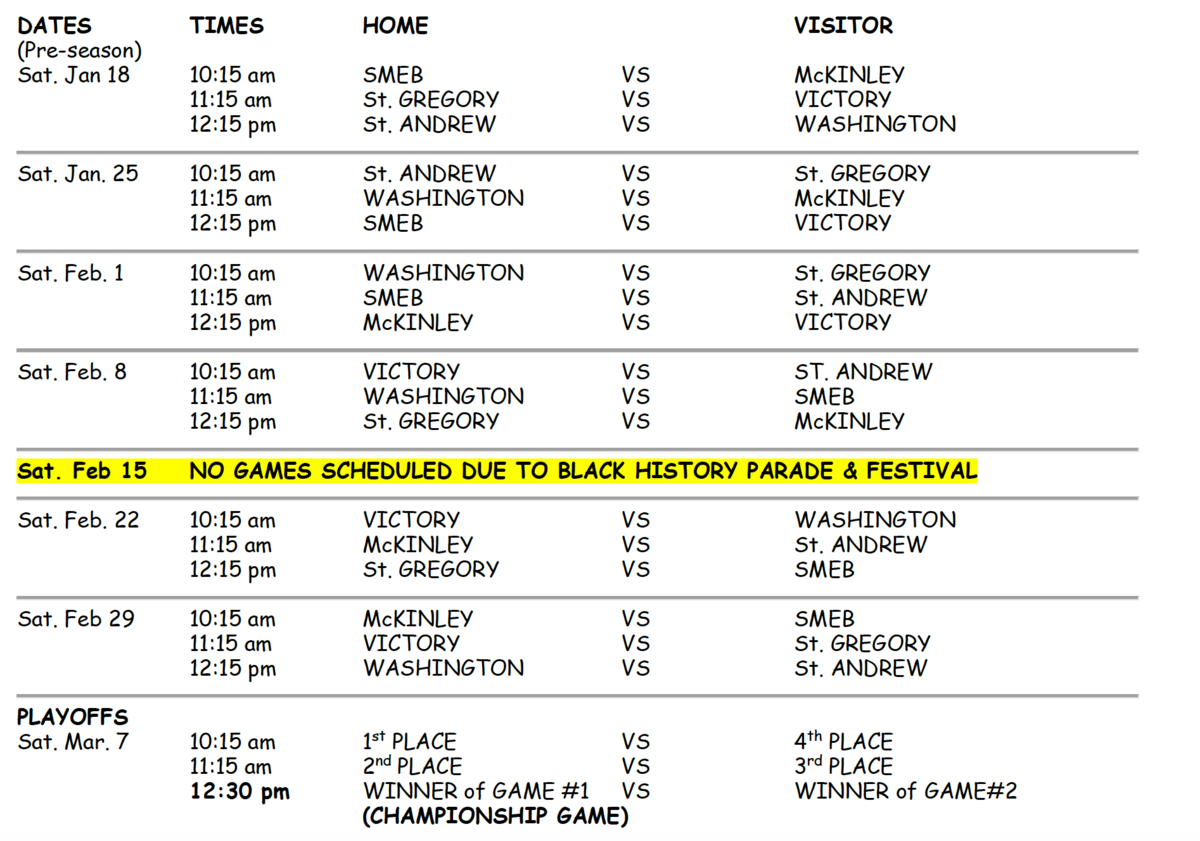 C Schedule