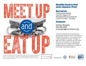 Meet Up & Eat Up Flyer