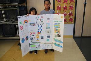 A poster about climate change