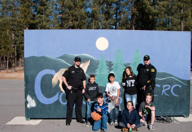 Law Enforcement Officers with CRC Students