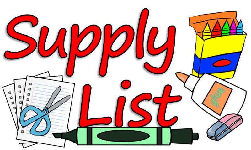 2018-2019 SCHOOL SUPPLY LIST Featured Photo