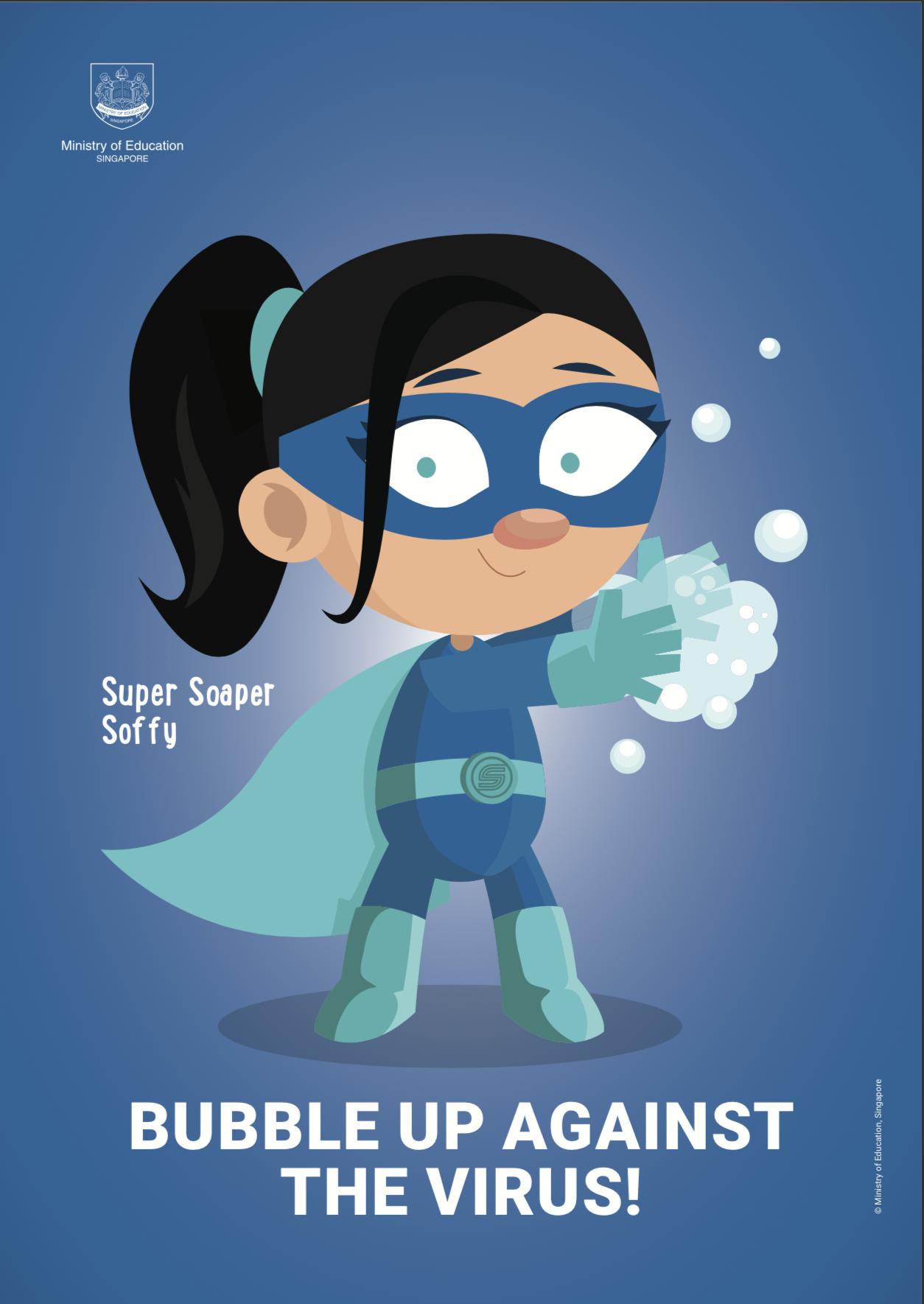 Mrs. Biete's Motivational Poster  - Bubble Up Against The Virus!