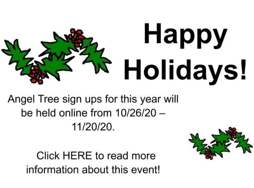 Angel Tree Sign Ups