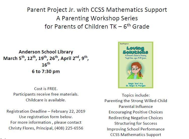 Parent Project Flyer