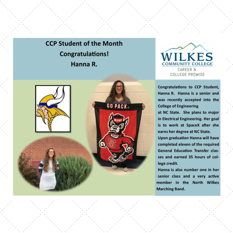 Hannah R. CCP Student of the Month