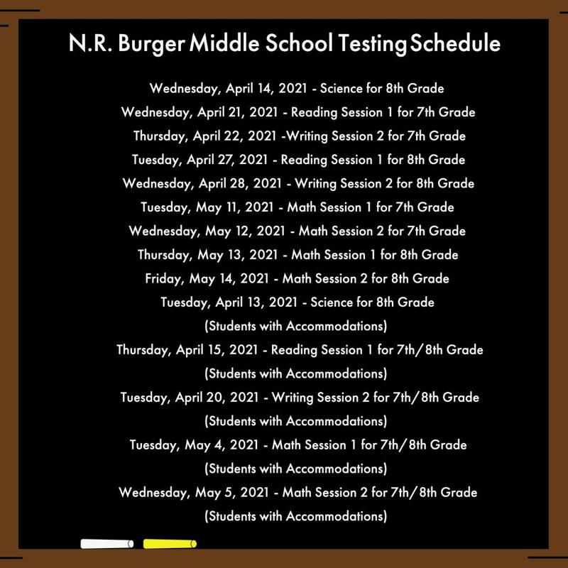 N.R. Burger State Testing Schedule (MAAP ELA, MATH, SCIENCE) Featured Photo