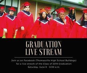 Graduation Facebook Live stream announcement