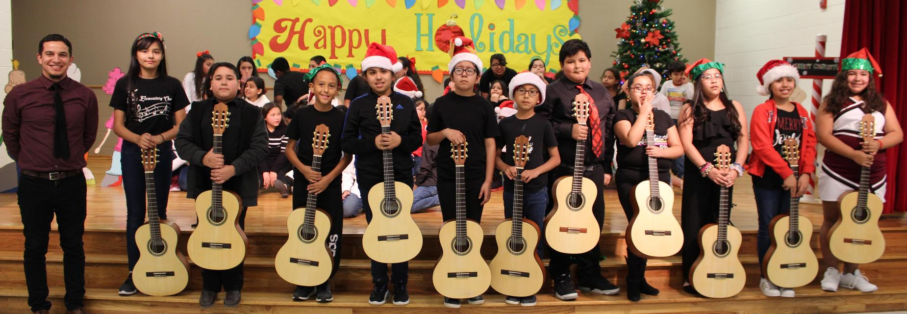 Guitar club on stage