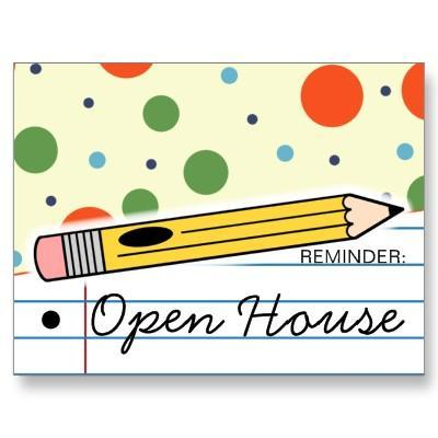 Pencil; Reminder Open House
