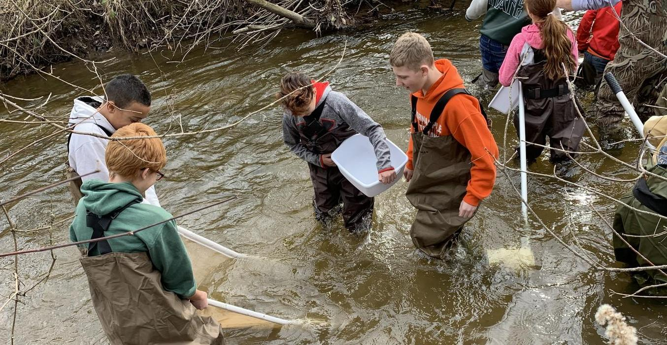TKMS students dive into a special science project to learn about water quality.
