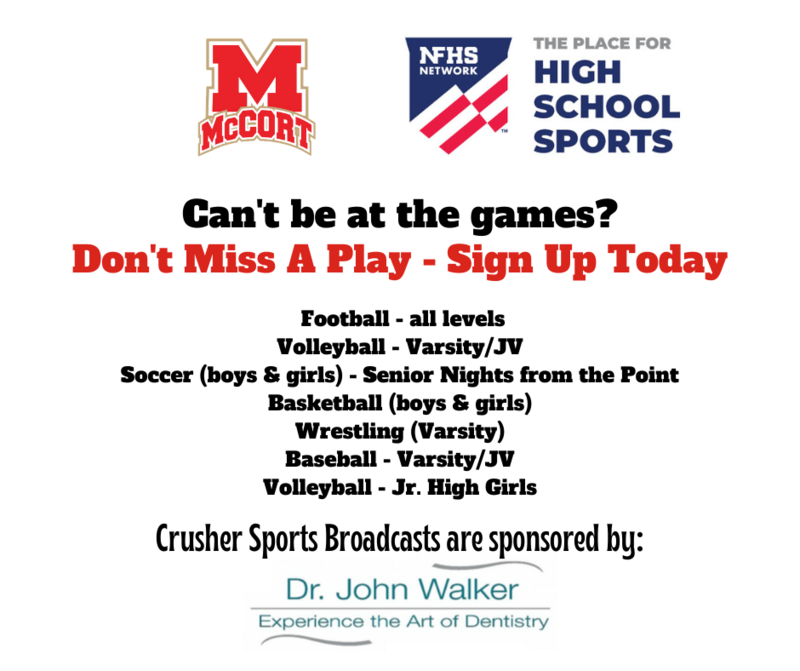 Watch Crusher Sports Anywhere - Sign Up for the NFHS Network Thumbnail Image