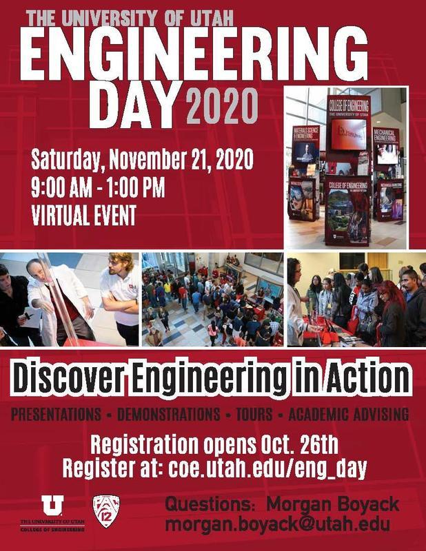 U of U Engineering Day 11-21-2020