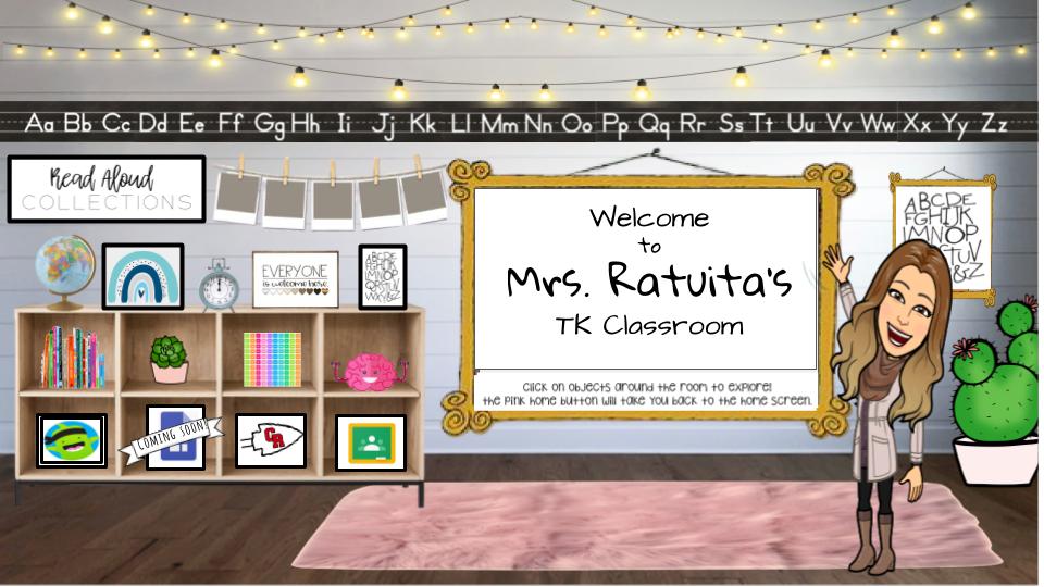 Welcome to Mrs. Ratuita's TK Classroom