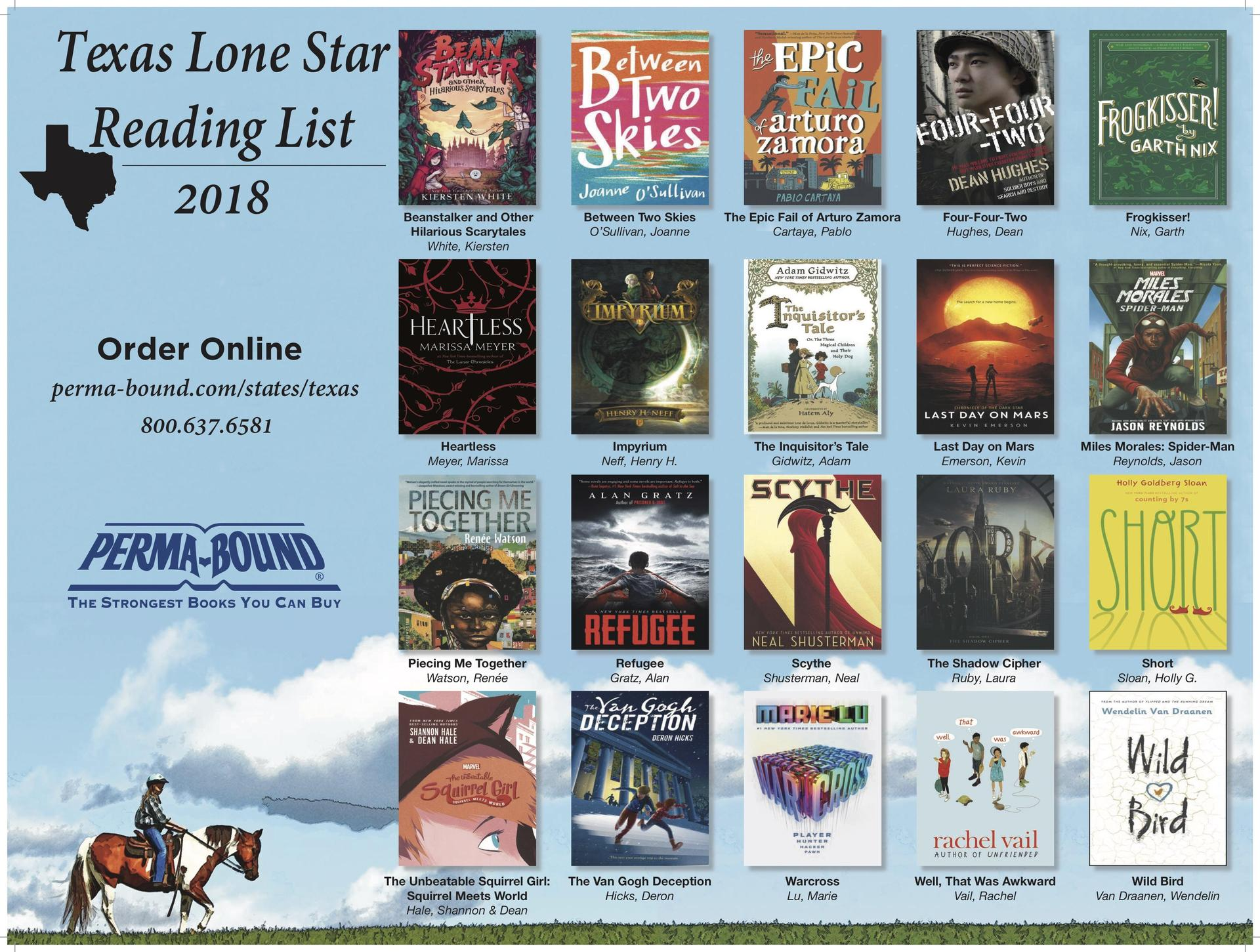 2018 Texas Lone Star Reading List