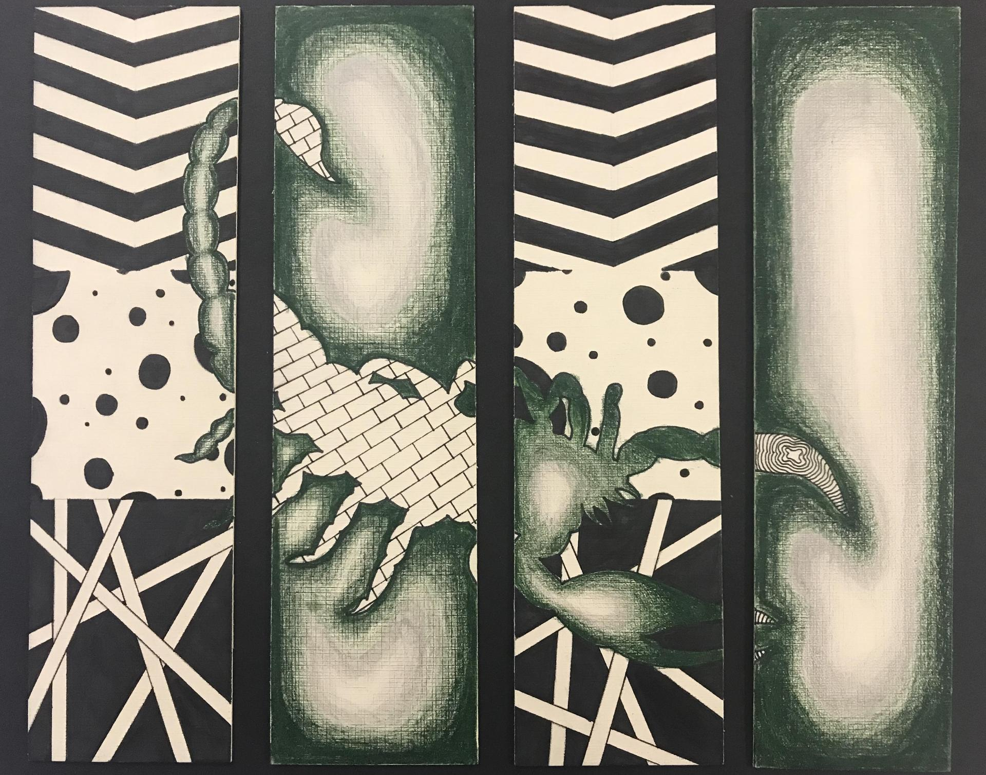 Zentangle Triptych Student Project