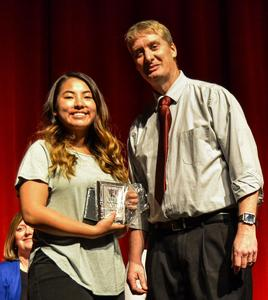 Sandy (Valedictorian) and Mr. Bob Buchheim, Principal