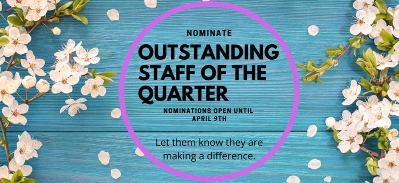 Nominate a staff member.