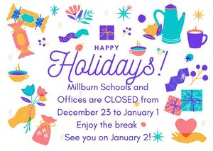 holiday announcement