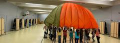 Parachute fun in PE