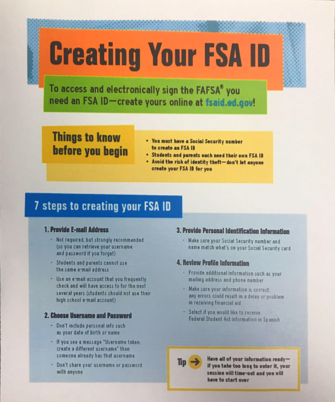 FSA Student Checklist