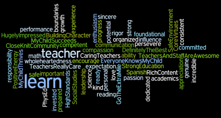Wordle about learning