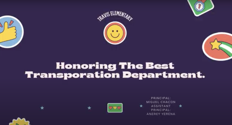 Travis Elementary Honors the Mercedes ISD Transportation Department Featured Photo