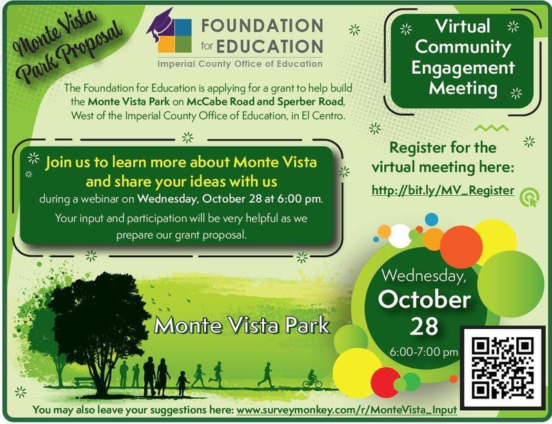 ICOE Monte Vista Park Community Engagement Meeting Thumbnail Image